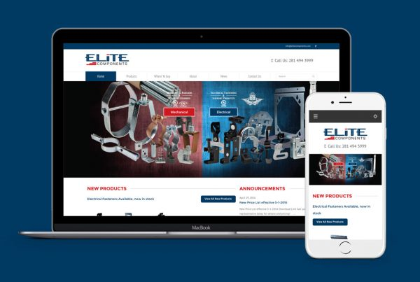 elite components website design