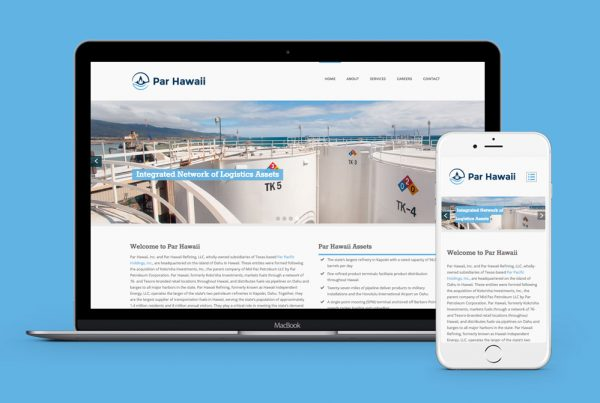 par hawaii website design